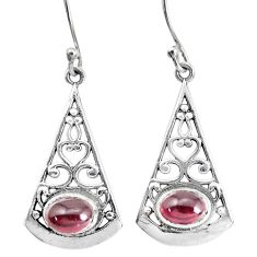925 sterling silver 4.21cts natural red garnet dangle earrings jewelry p34493