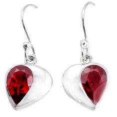 925 sterling silver 3.72cts natural red garnet dangle earrings jewelry p36729
