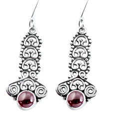 925 sterling silver 2.58cts natural red garnet dangle earrings jewelry p58143