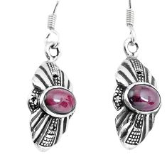 925 sterling silver 3.83cts natural red garnet dangle earrings jewelry p58420