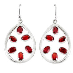 925 sterling silver 12.22cts natural red garnet dangle earrings jewelry p60651