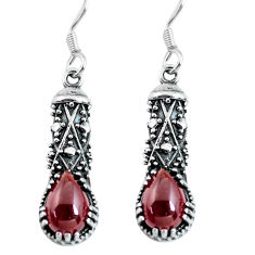 925 sterling silver 4.52cts natural red garnet dangle earrings jewelry p63892