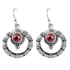 925 sterling silver 2.44cts natural red garnet dangle earrings jewelry p63924