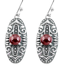 925 sterling silver 2.50cts natural red garnet dangle earrings jewelry p64944