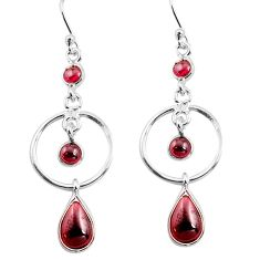 925 sterling silver 7.67cts natural red garnet dangle earrings jewelry p77370