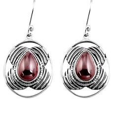 925 sterling silver 6.58cts natural red garnet dangle earrings jewelry p77567