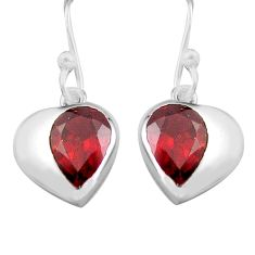 925 sterling silver 5.68cts natural red garnet dangle earrings jewelry p82320