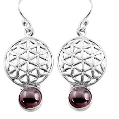 925 sterling silver 5.13cts natural red garnet dangle earrings jewelry p84904