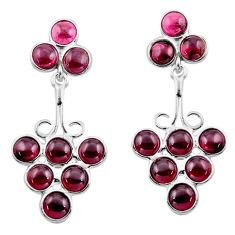 925 sterling silver 14.23cts natural red garnet dangle earrings jewelry p88364