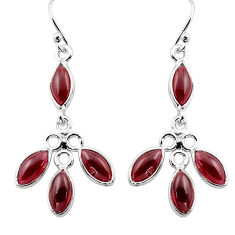 925 sterling silver 10.89cts natural red garnet dangle earrings jewelry p88419