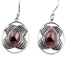 925 sterling silver 6.26cts natural red garnet dangle earrings jewelry p88444