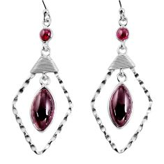 925 sterling silver 14.23cts natural red garnet dangle earrings jewelry p91920