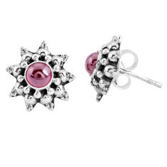 925 sterling silver 2.09cts natural red garnet stud earrings jewelry p48855