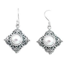 925 sterling silver 7.12cts natural white pearl dangle earrings jewelry p65007