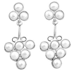 925 sterling silver 15.05cts natural white pearl dangle earrings jewelry p77464