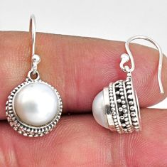 925 sterling silver 9.37cts natural white pearl dangle earrings jewelry p89824
