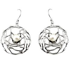 925 sterling silver 1.92cts natural white pearl dangle earrings jewelry p91440