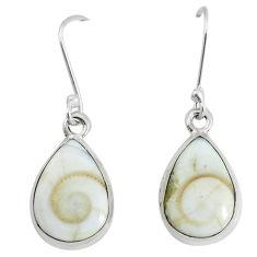 925 sterling silver 10.32cts natural white shiva eye dangle earrings p58434