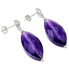 925 sterling silver natural purple amethyst earrings jewelry a49800