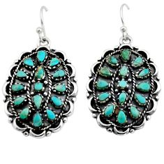925 sterling silver 6.19cts green arizona mohave turquoise dangle earrings c7890