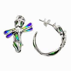 925 sterling silver art nouveau multi color enamel dragonfly earrings c8130