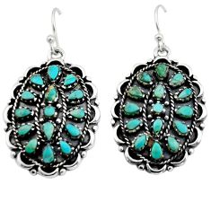 8.55cts green arizona mohave turquoise 925 sterling silver earrings c8585