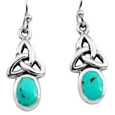 925 sterling silver 2.81cts green arizona mohave turquoise earrings c8650