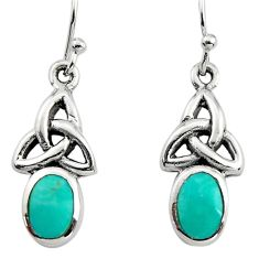 925 sterling silver 6.43cts green arizona mohave turquoise earrings c8804