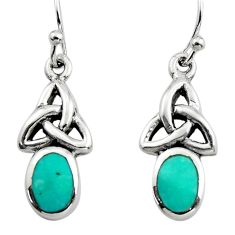 2.56cts green arizona mohave turquoise 925 sterling silver earrings c8808
