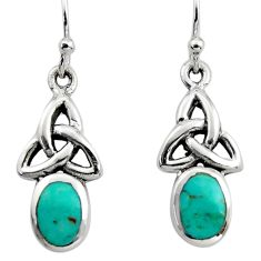 925 sterling silver 2.41cts green arizona mohave turquoise earrings c8811