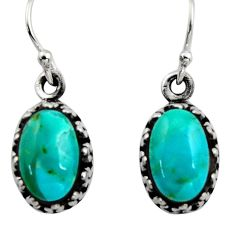 5.12cts green arizona mohave turquoise 925 sterling silver earrings c8812