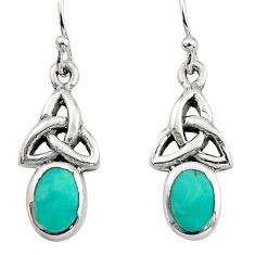 2.41cts green arizona mohave turquoise 925 sterling silver earrings c8813