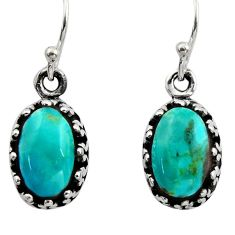 925 sterling silver 4.84cts green arizona mohave turquoise earrings c8815