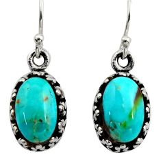 925 sterling silver 4.82cts green arizona mohave turquoise earrings c8818