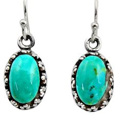 5.36cts green arizona mohave turquoise 925 sterling silver earrings c8819