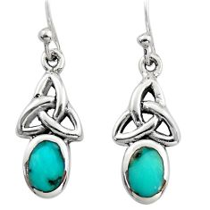 2.81cts green arizona mohave turquoise 925 sterling silver earrings c8820