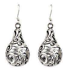 7.03gms filigree bali style 925 sterling silver dangle earrings c8844