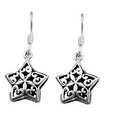 4.03gms filigree bali style 925 silver star charm earrings c8850