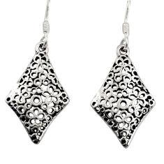 3.47gms filigree bali style 925 sterling silver dangle earrings c8853