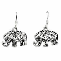 6.26gms filigree bali style 925 sterling silver elephant earrings c8855