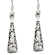 2.48gms filigree bali style 925 sterling silver dangle earrings c8885