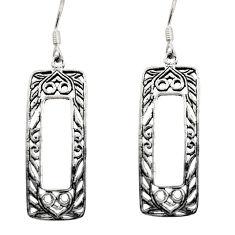 6.69gms filigree bali style 925 sterling silver dangle earrings c8889