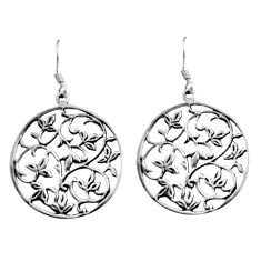 4.69gms filigree bali style 925 silver tree of life earrings c8895
