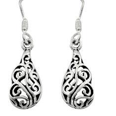 2.89gms filigree bali style 925 sterling silver dangle earrings c8902