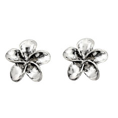 925 sterling silver 4.26gms indonesian bali style solid flower earrings c8920