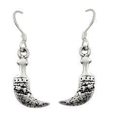 925 sterling silver 2.89gms indonesian bali style solid dangle earrings c8924