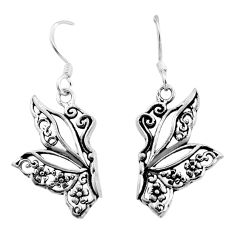 925 silver 4.03gms filigree bali style dangle butterfly earrings c8928