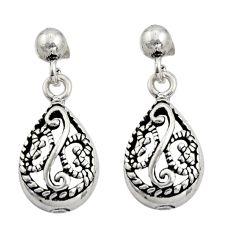 925 sterling silver 3.69gms filigree bali style dangle earrings c8932