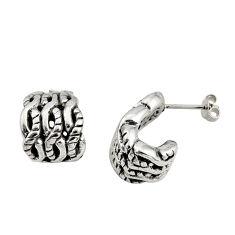 3.48gms indonesian bali style solid 925 sterling silver dangle earrings c8934