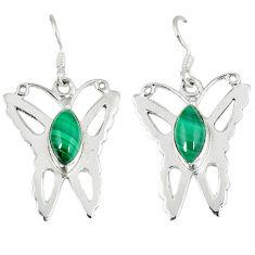 lachite (pilot's stone) 925 silver butterfly earrings d12502